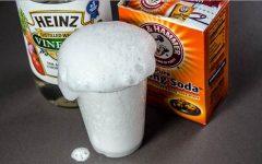 сода и уксус для прочистки засоров в раковинах