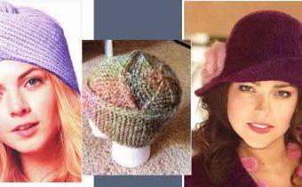3 оригинальные шапочки спицами - фото