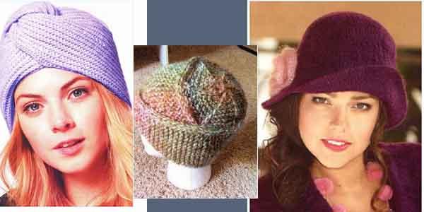 3 шапочки спицами