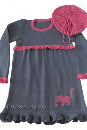 идеи детских платьев на вязальной машине