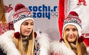 шапочки с ушками из коллекции одежды для олимпийской сборной России