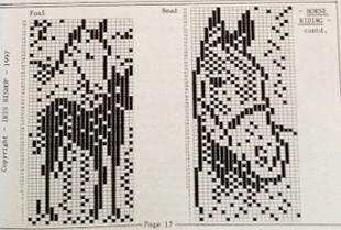 страница из каталога Ирис Бишоп Голова Лошади и Лошадь с жеребенком