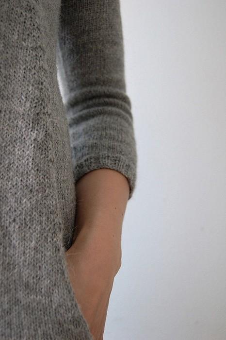 туника с карманами спицами карманы