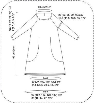 схема выкройки туники с карманами