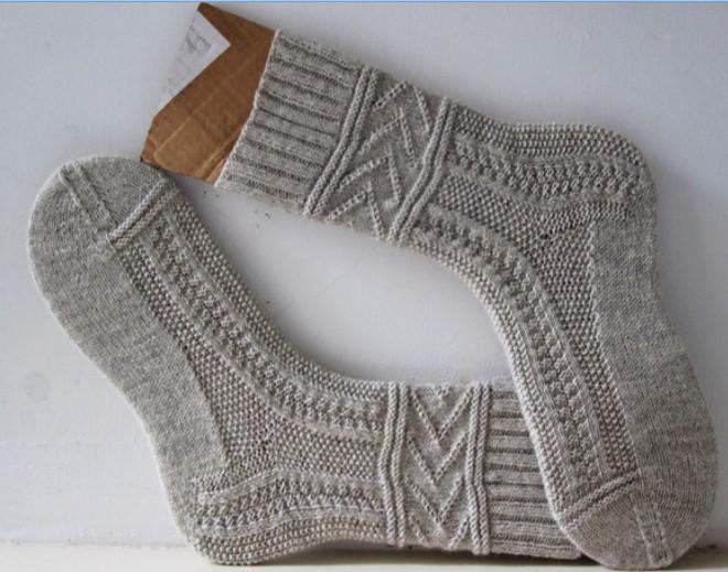 Как связать спицами носки