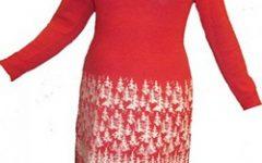 платье с оленями в лесу