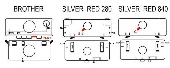 схема расстановки кнопок для репс на бразере и сильере