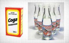 уксус и сода для чистки засоров