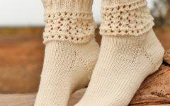фото носочков спицами из Дробс