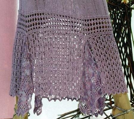 кайма юбки с отделкой крючком