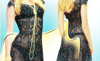 платье крючком ананасы