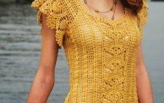 желтое платье со вставкой ананасами