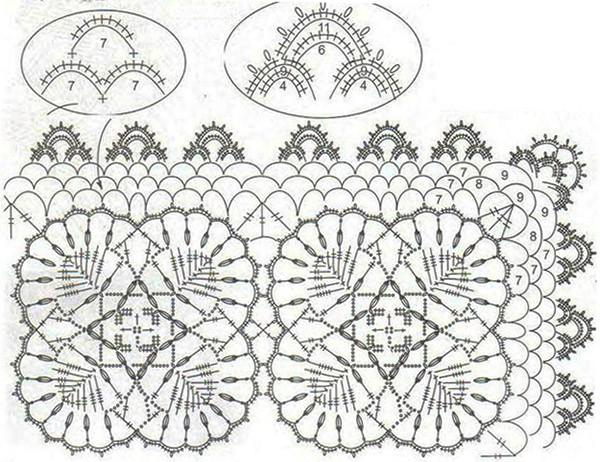 соединение мотивов квадратных крючком для кардигана