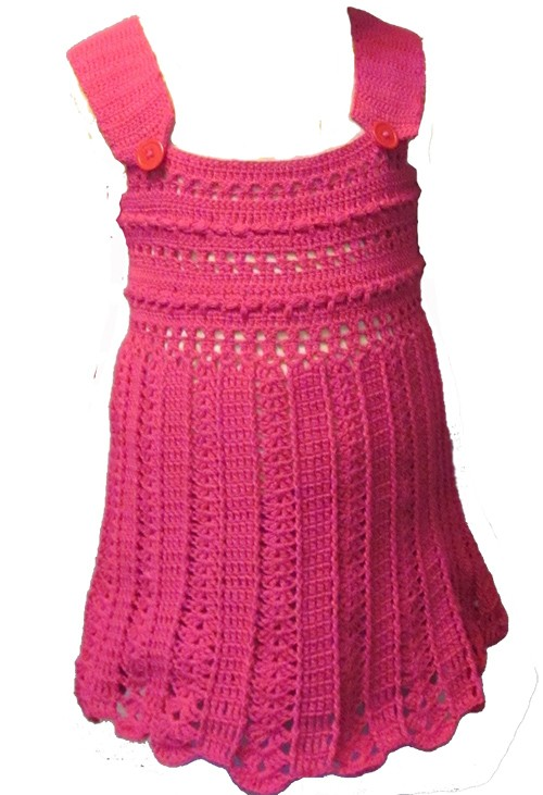 платье детское крючком1