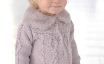 Детский жакет спицами для девочки каталожная модель