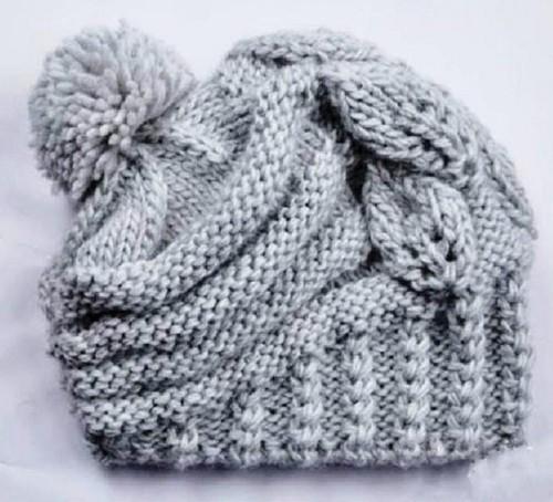 шапочка на весну для девочки спицами1