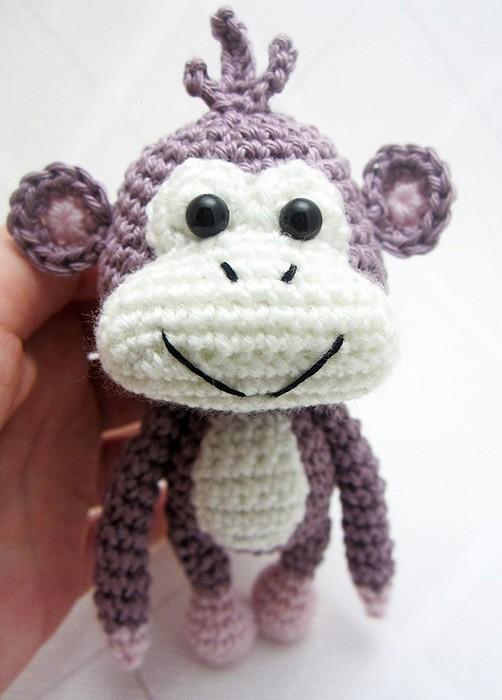 как связать обезьянку крючком для начинающих
