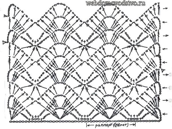 Ажурный жакет крючком схемы и описание