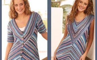 две блузы на лето спицами