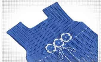 кокетка крючком для детского платьица