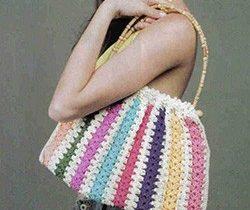 сумка из двух цветов летняя