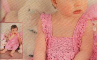 фото сарафанчика крючком для девочки 1 год