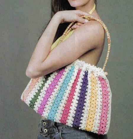 сумочка двухцветная летняя