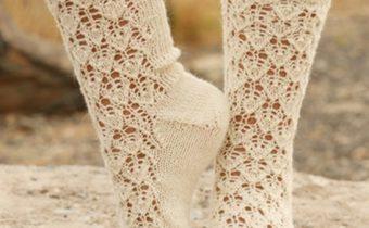 Ажурные носочки спицами перевод из Дробс - вяжем с удовольствием