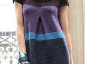 Связать платье спицами для женщины новые модели - Полосатик из Филдер