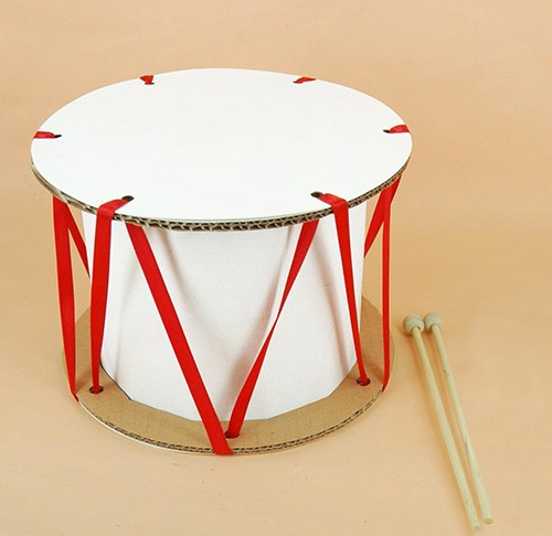 барабан из картона