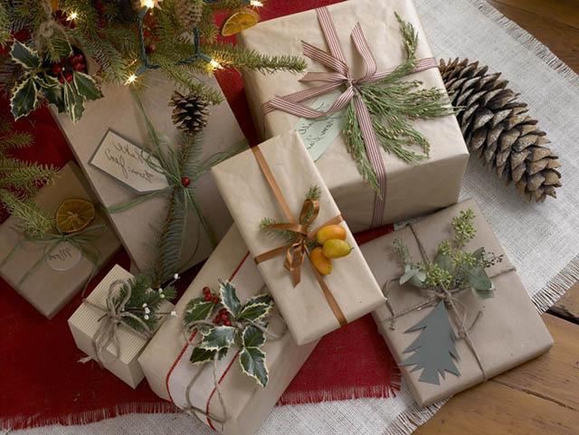 примеры упаковки подарков на Новый Год