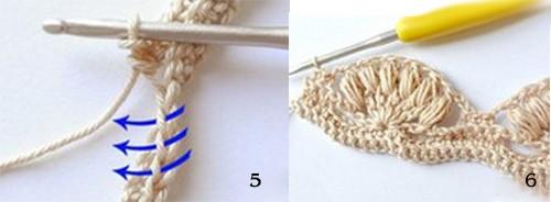 как вязать многоцветный узор крючком для шапочки