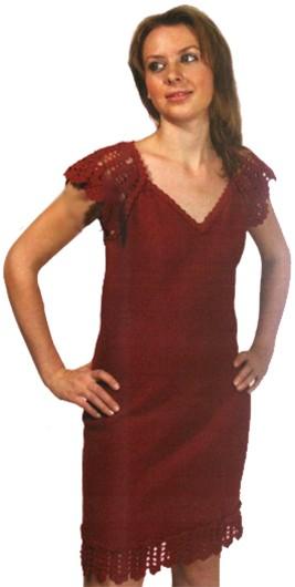 платье -сарафан крючок плюс спицы