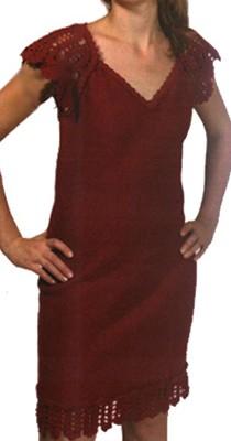 платье сарафан с отделкой крючком