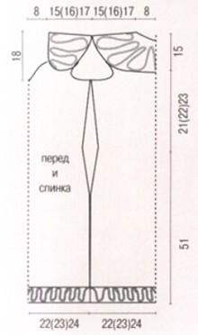 чертеж выкройки платья-сарафана
