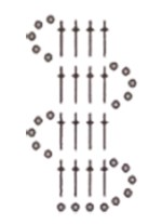 схема тесьмы для кокетки в технике брюгского кружева