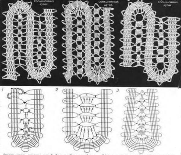 примеры вилюшек крючком в технике брюгге