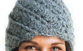 шапка крючком для женщины крупным крючком