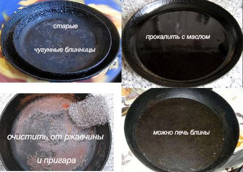старая чугунная сковородка