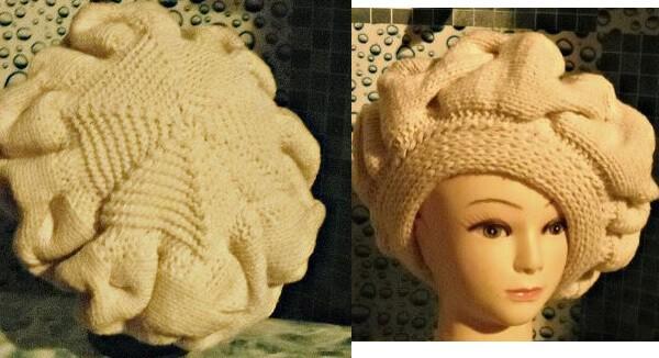 воплощение шапки берета спицами