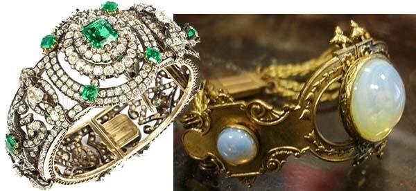 драгоценные старинные браслеты
