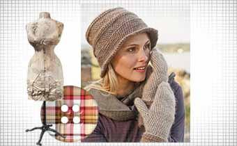 Женская шапка крючком на зиму: вяжем по кругу шапочку-шляпку и варежки