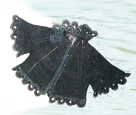Накидка крючком связанная сверху филейная сетка плюс кружево