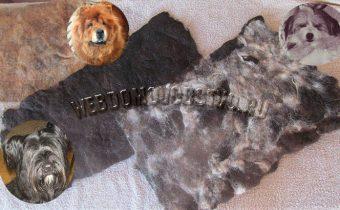 три войлочных коврика из собачьей шерсти