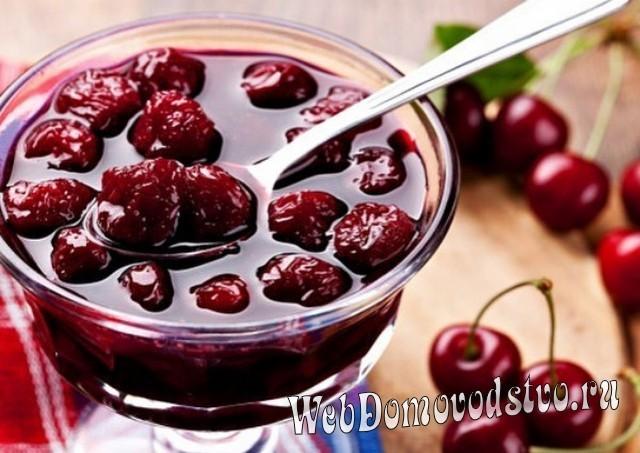 Варим вишневое варенье, в котором много сиропа