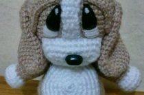 Игрушка крючком Амигуруми собачка Тёпа
