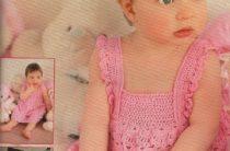 Вязание крючком для детей от 0 до 3 лет с описанием — сарафанчик