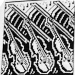 Перфокарта для Бразер Скрипки и Ноты из каталога Ирис Бишоп