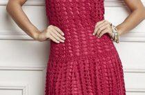 Вязание крючком платья для женщин со схемами
