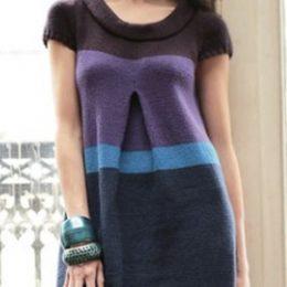 Связать платье спицами для женщины новые модели — Полосатик из Филдер
